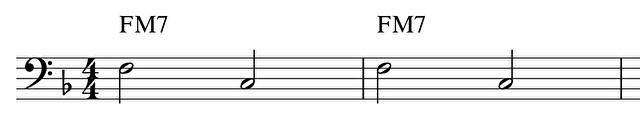 二分音符のみのパターン(A)