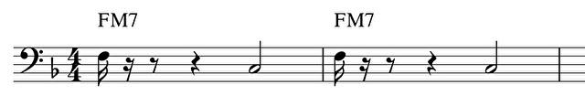 1拍目を短く切るパターン(C)